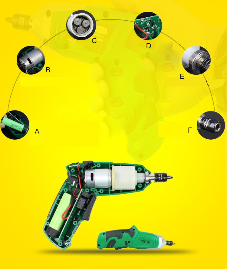 3.6V Electric screwdriver Electric drill with bits