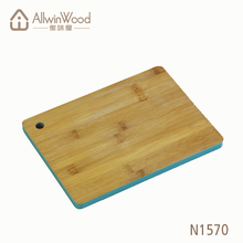 Beautiful bamboo cutting boards with colored edge painting