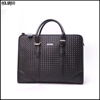 Wholesale mens new designer hot selling braided black leather briefcase
