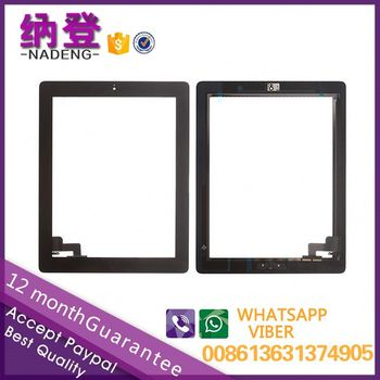 Hot sale for ipad 2 glass with home button accept paypal