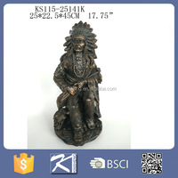 Native American Indian Sculpture Bronze Indian Statues For Sale