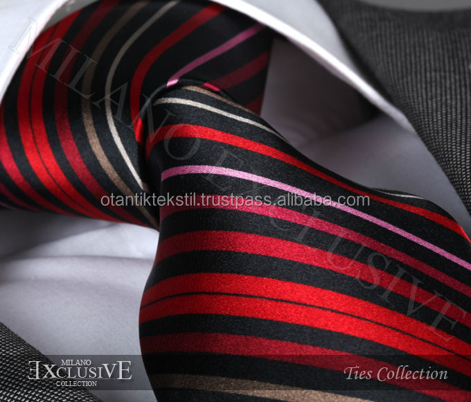 Hand made tie, Black Neck , fashion tie