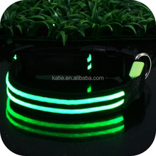 Novelty Private Label Illuminated LED Dog Collar Glowing in the Dark