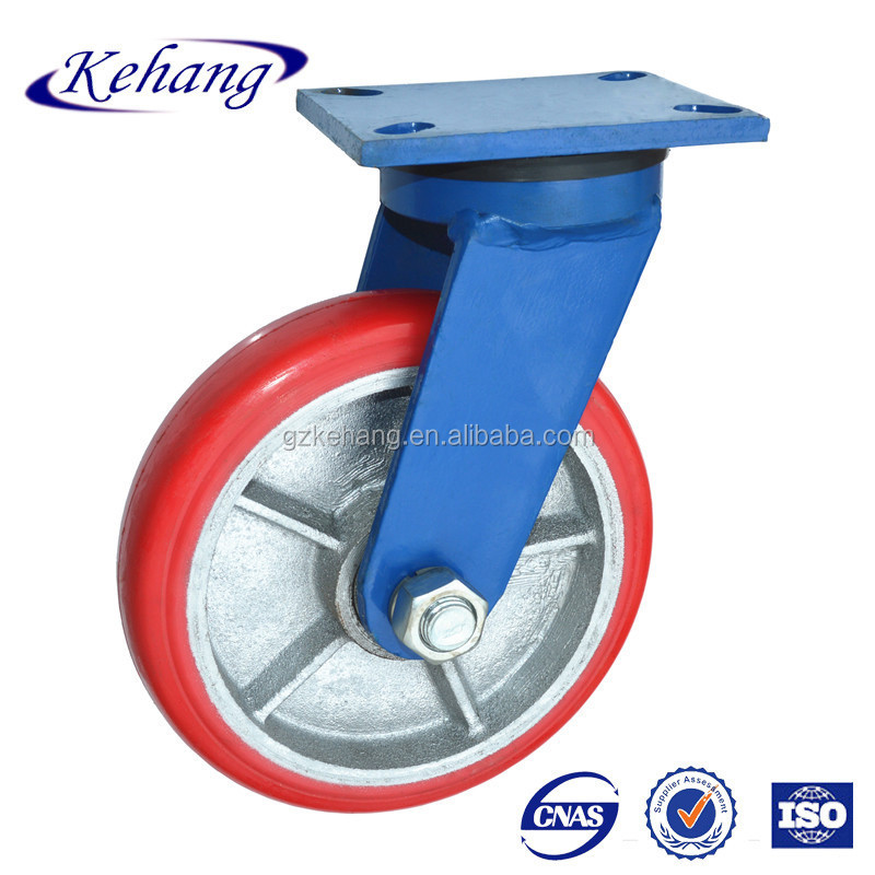 "pu series Caster Wheel/8"" heavy duty Caster pu big Wheel/200mm industrial cast iron caster"