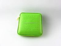 Green square PU measuring tape/tailor tape with customised LOGO