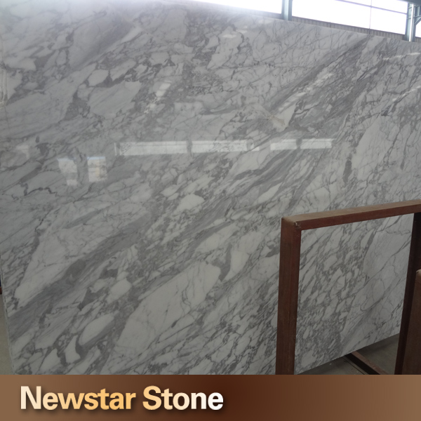 Made in China polished white italian marble slab size