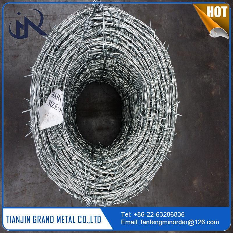 wholesale galvanized fence barbed wire per roll with great price