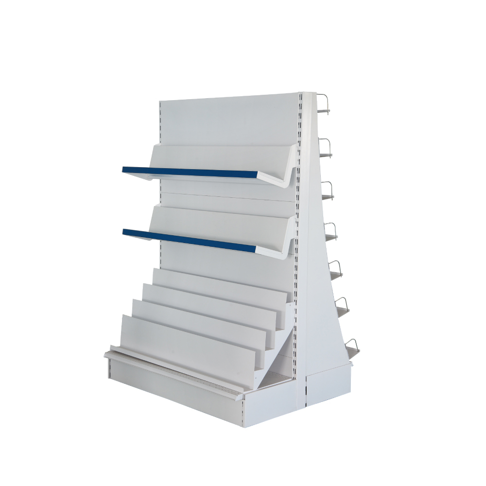 Supermarket metal steel durable book shelf for book store