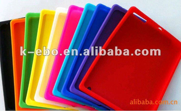 For iPad 3 Silicone skin case cover
