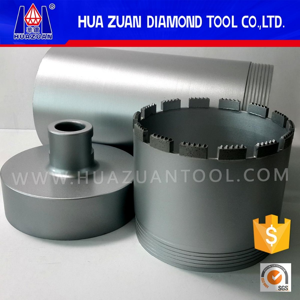 High performance diamond flexible center core drill bits