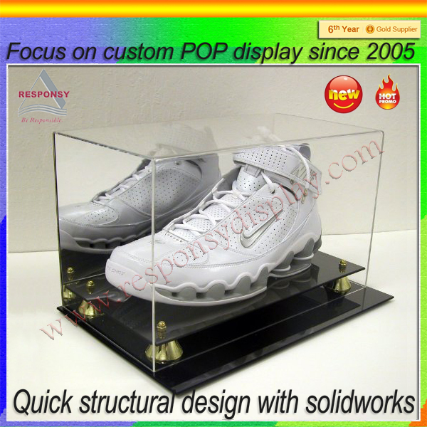 New Products Custom Clear Acrylic Display Case for Shoes