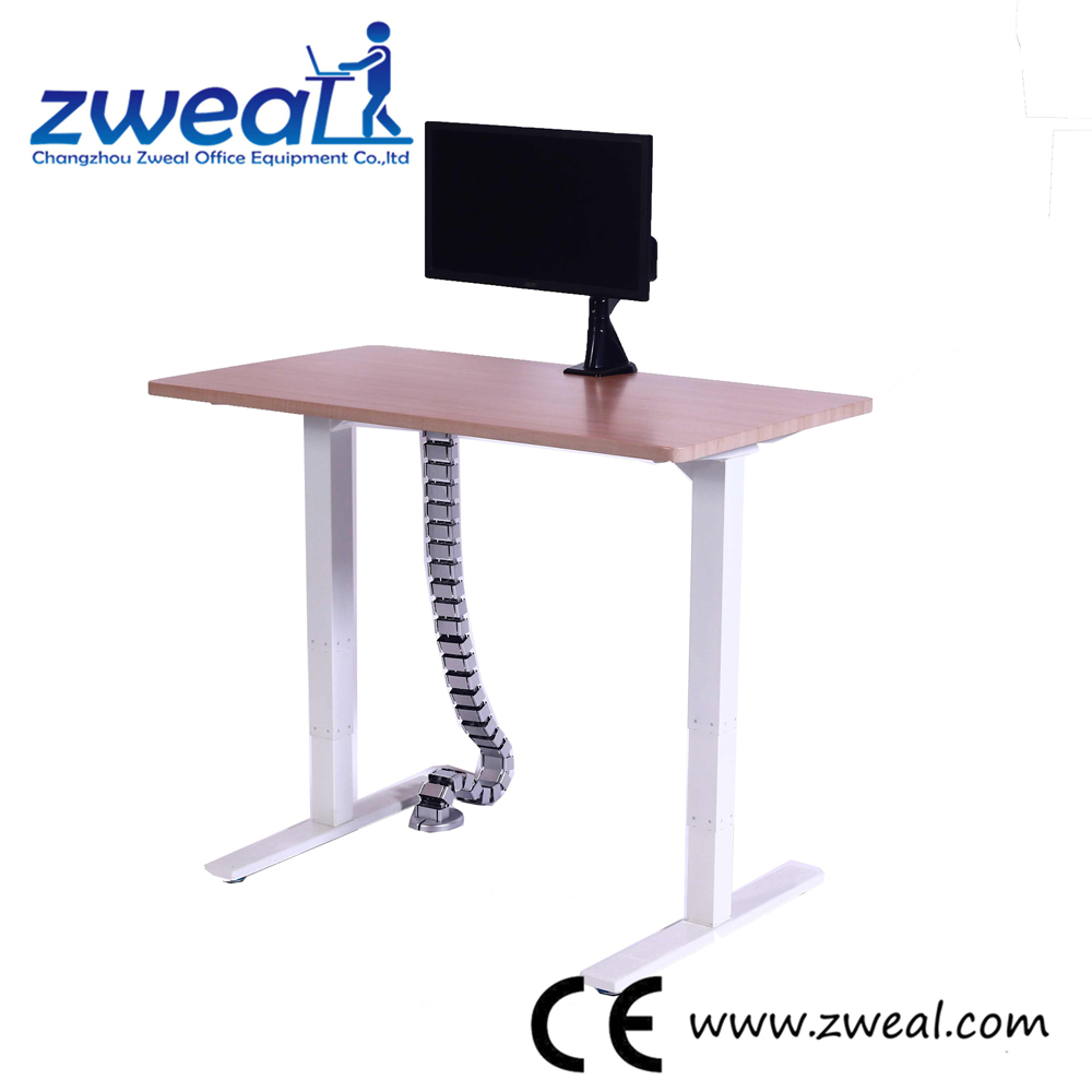 aluminum alloy frame two motors legs electric adjustable table height mechanisms