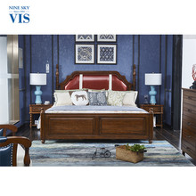 American Village Style Solid Wood Luxury Bedroom Furniture Sets With Price/Funiture Bedroom Set