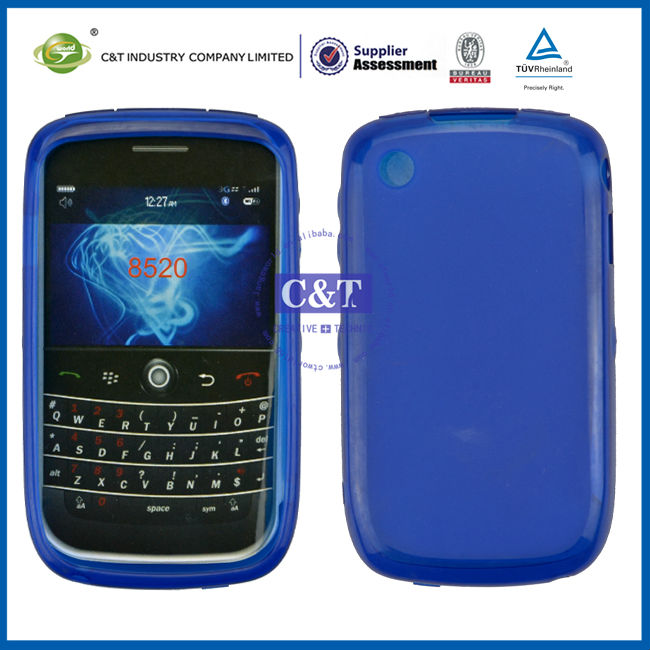 C&T TPU soft case for 8520,for blackberry curve 8520 back cover