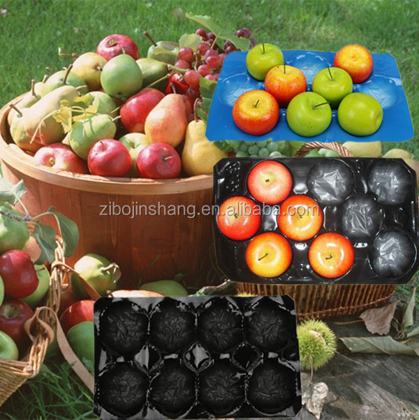 Blue black red pp plastic fruit shaped insert package trays wholesale