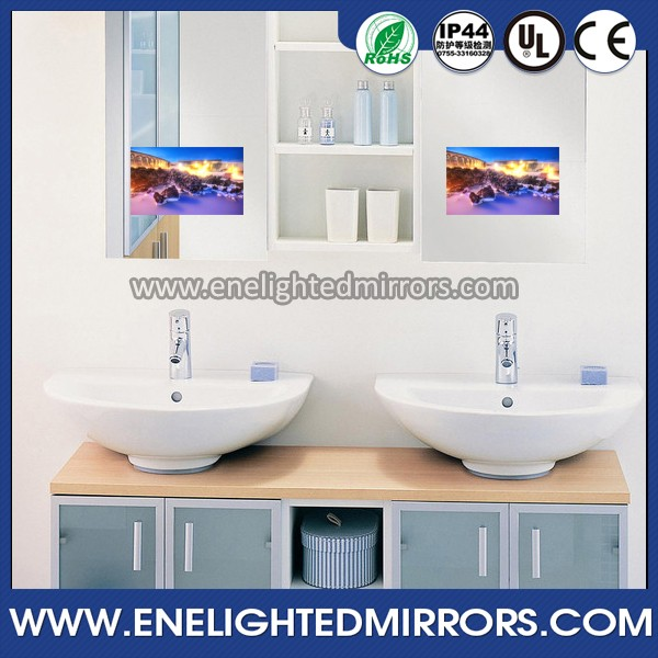 New Modern Wall Mounted Bathroom Waterproof Mirror TV