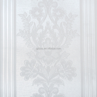 Low price white classical flower wall covering deep embossed 3d wallpaper