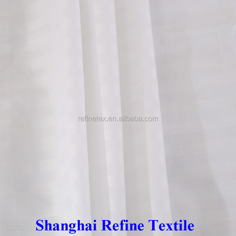 Satin Stripe cotton sheeting fabric for hotel bedding
