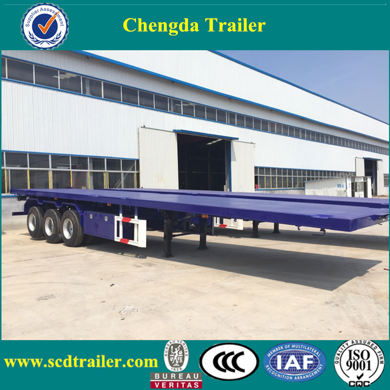 China Manufacturer Chengda 40ft 3 Axle Skeletal Container Semi Trailers For Sale