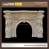 Linstone Hot Sale Firplace Mantel Marble Fireplace