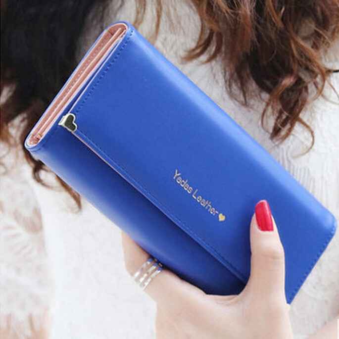 Bz5220 2015 best sale wallets Korean fashion letter women purses many color
