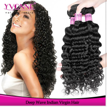 2016 Yvonne fashion curly hair deep wave unprocessed 100% virgin indian hair weaves