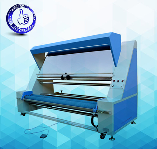 thick fabric inspection and rolling /winding machine with light