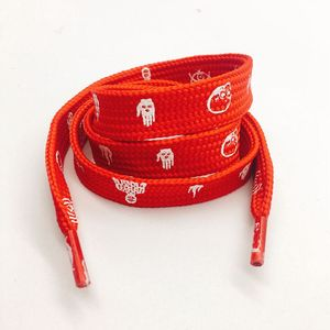 1.5cm red flat shoe lace,custom printed shoelace