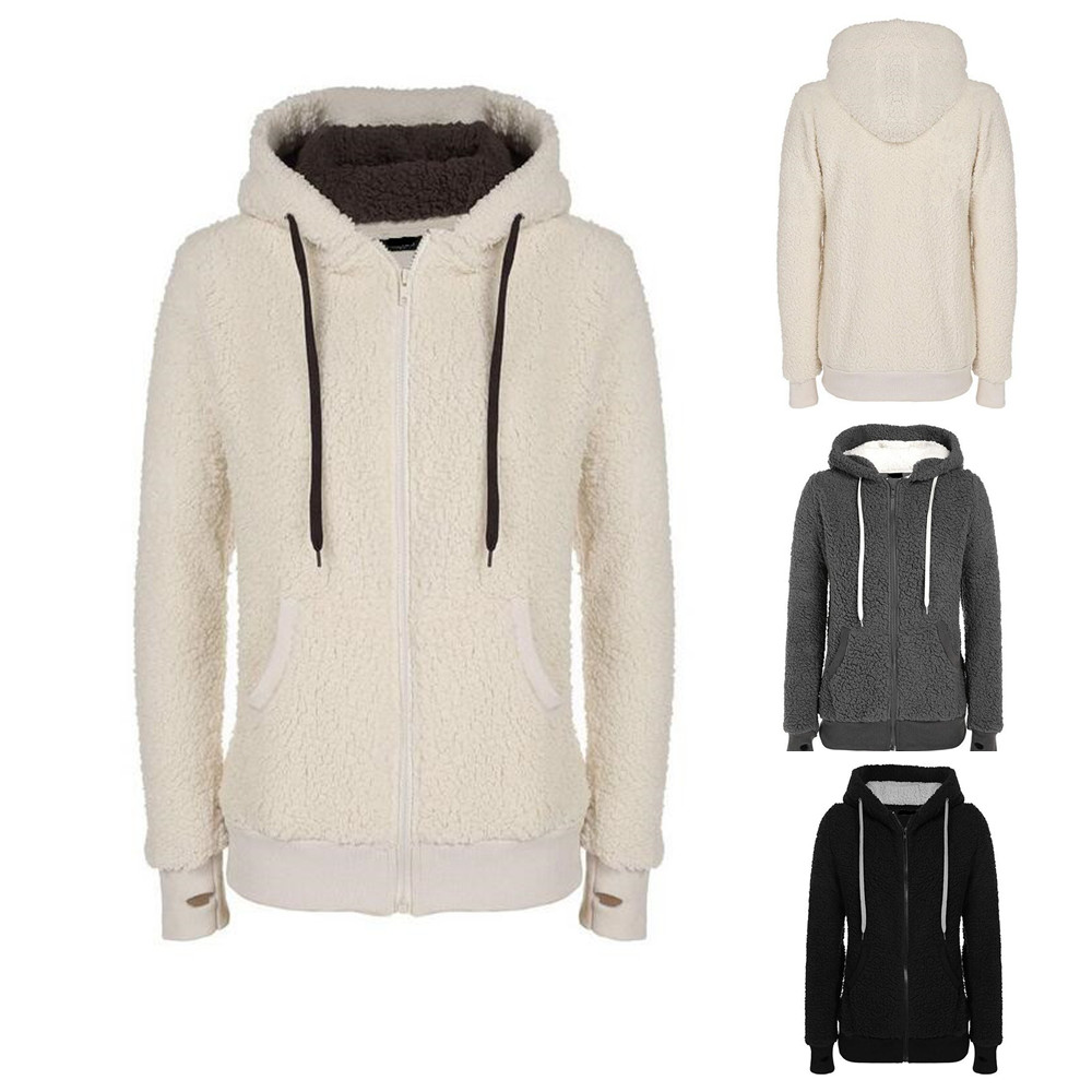 Custom design mens Womens Soft Sherpa Fleece pullover Hooded Jumper Hoody Jacket