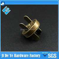 Factory price 4mm antique brass magnetic snap strong magnet button