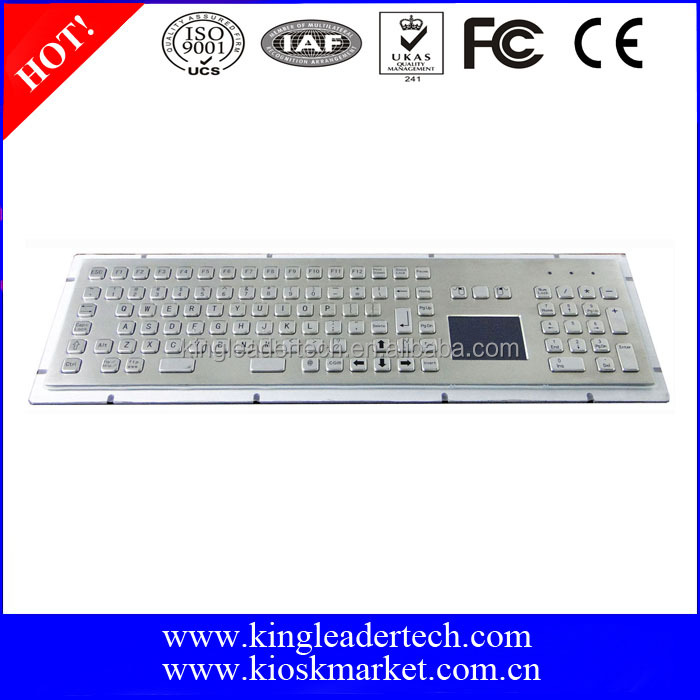 Waterproof 103 keys touchpad wired keyboard with numeric keypad