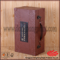 whiskey wine leather liquor case wine carrying case
