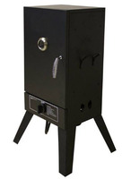"26"" Vertical Smoker box in LP Gas with Chromed Iron Wire Sausage Hanger and 8,000 BTUs for BBQ Barbecue cooking"