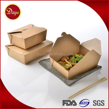Custom takeaway fast food hamburger sushi disposable paper lunch box