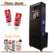 Cheap Photo booth Passport Photo Printer Kiosk/Photo Booth Enclosure With Touch Screen
