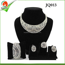 JQ013 on sale new women indian silver jewelry set for party