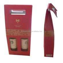 Portable paper wine packaging carrier