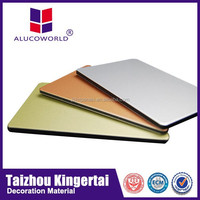 Alucoworld aluminum copper clad laminate light weight concret guangzhou acp aluminium composite panel acp