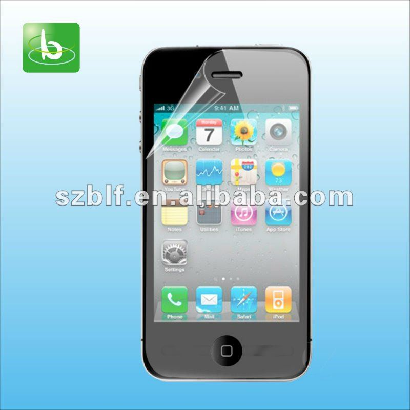 High transparency screen protector for iphone4