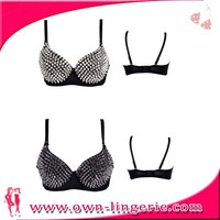 reversible bikini bra for hot girl open photos Luxury bikini factory price rhinestone bra strap