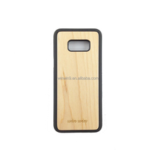 New Design Blank Woods Pattern TPU Bumper Phone Case For Samsung Galaxy S8, Wood Case For Samsung S8 Plus