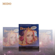 newest 20 colors little bag packaging hair decolor powder