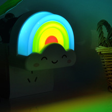 Day. Creative colorful lights the national standard 3C LED light induction acousto-optic Nightlight bedside lamp