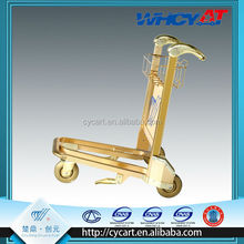 Best price airport trolley with golden design