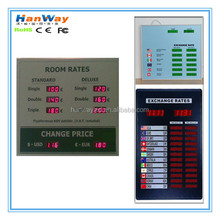 led exchange foreign signage board \ led exchange money rate \ exchange rate panel display