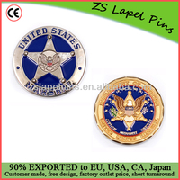 UNITED STATES MARSHAL challenge coins gold challenge coins