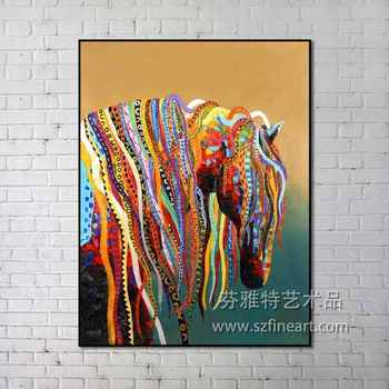 2016 Fashion Home Decor Canvas High Quality Horse Painting