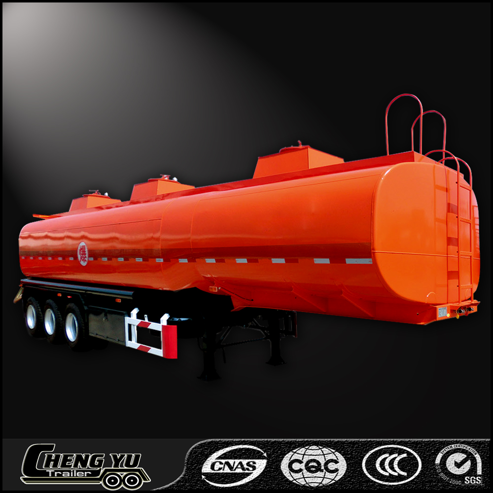 Fuel tank trailer for light diesel oil delivery