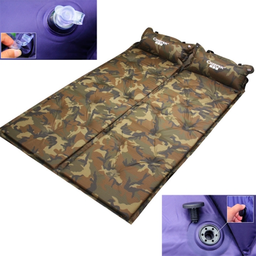 Automatic Inflatable Sleeping Pad, Moisture Proof Pad with Pillow (Camouflage)