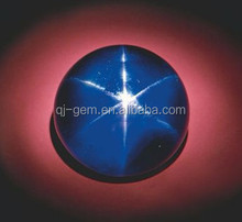 Round Cabochon Star Sapphire Beads Synthetic Star Sapphire Blue Gemstone
